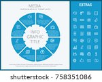 media infographic template ... | Shutterstock .eps vector #758351086