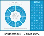 music infographic template ... | Shutterstock .eps vector #758351092