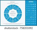 music infographic template ... | Shutterstock .eps vector #758351092