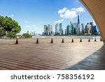 empty city square floor and... | Shutterstock . vector #758356192