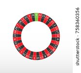 roulette casino wheel. european ... | Shutterstock .eps vector #758360356