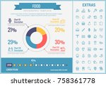 food infographic template ... | Shutterstock .eps vector #758361778