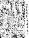 grunge black and white seamless ... | Shutterstock . vector #758377852