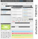 web design elements set 3.... | Shutterstock .eps vector #75839422