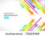 colored arrows vector | Shutterstock .eps vector #75839989