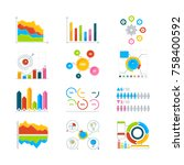 vector graphics  charts and... | Shutterstock .eps vector #758400592