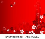 abstract floral vector template ... | Shutterstock .eps vector #75840667