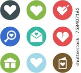origami corner style icon set   ... | Shutterstock .eps vector #758407162