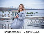a woman of plus size  american... | Shutterstock . vector #758410666