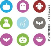 origami corner style icon set   ... | Shutterstock .eps vector #758411218