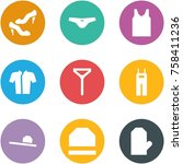 origami corner style icon set   ... | Shutterstock .eps vector #758411236