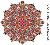 round mandalas in vector....   Shutterstock .eps vector #758412226