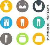 origami corner style icon set   ... | Shutterstock .eps vector #758413246
