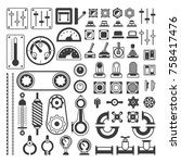 set of measuring equipment  ... | Shutterstock .eps vector #758417476