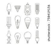 symbols of light. different... | Shutterstock .eps vector #758419156