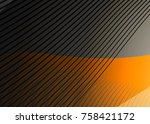 orange abstract template for... | Shutterstock .eps vector #758421172