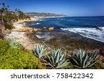 Beach View Of The Pacific Ocea...