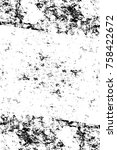 grunge black and white pattern. ... | Shutterstock . vector #758422672