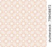 vector floral ornamental pattern | Shutterstock .eps vector #758438872