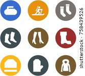 origami corner style icon set   ... | Shutterstock .eps vector #758439526