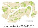 vector illustration map of st....   Shutterstock .eps vector #758441515