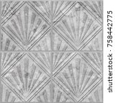 geometric pattern on ceramic... | Shutterstock . vector #758442775