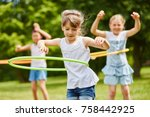 children training their... | Shutterstock . vector #758442925