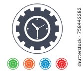 time efficiency icon | Shutterstock .eps vector #758443282