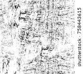 grunge black and white seamless ... | Shutterstock . vector #758443615