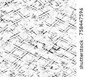 grunge black and white seamless ... | Shutterstock . vector #758447596