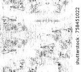 grunge black and white seamless ... | Shutterstock . vector #758451022