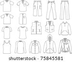 man clothes collection isolated