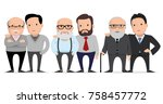 set of characters fathers and... | Shutterstock .eps vector #758457772
