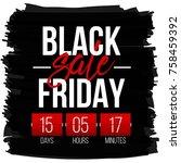 abstract vector black friday...   Shutterstock .eps vector #758459392