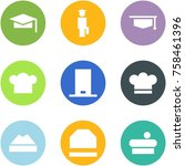 origami corner style icon set   ... | Shutterstock .eps vector #758461396