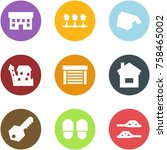 origami corner style icon set   ... | Shutterstock .eps vector #758465002