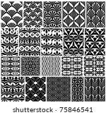 set of monochrome classic... | Shutterstock .eps vector #75846541