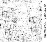 grunge black and white seamless ...   Shutterstock . vector #758466742