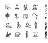set of medical symbols | Shutterstock .eps vector #758470948