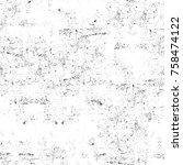 grunge black and white seamless ... | Shutterstock . vector #758474122