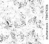 grunge black and white seamless ... | Shutterstock . vector #758474206