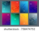 cell modern abstract... | Shutterstock .eps vector #758474752