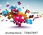 vector 3d floral patterns