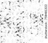 grunge black and white seamless ... | Shutterstock . vector #758481322