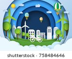 eco friendly concept design... | Shutterstock .eps vector #758484646