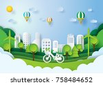 green energy concept design... | Shutterstock .eps vector #758484652