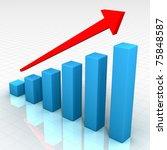 ideal business chart | Shutterstock . vector #75848587