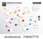 vector infographic timeline... | Shutterstock .eps vector #758487775