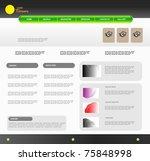 vector website design template | Shutterstock .eps vector #75848998