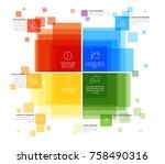 vector infographic diagram... | Shutterstock .eps vector #758490316